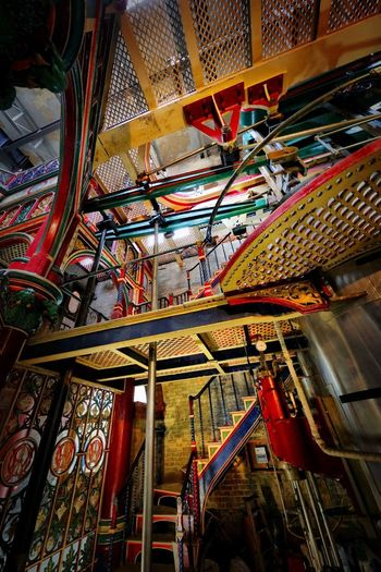 Crossness Pumping Station Architecture Indoors  Low Angle View Built Structure No People Metal Staircase