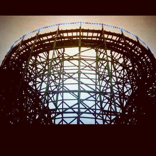 Roller coaster, sky Amusementpark Knoebelsgrove Rollercoaster Struts shadow vignette trb_members1 elysburg pennsylvania