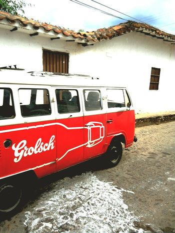 Street Vintage Cars Retro Colombia Travel Van
