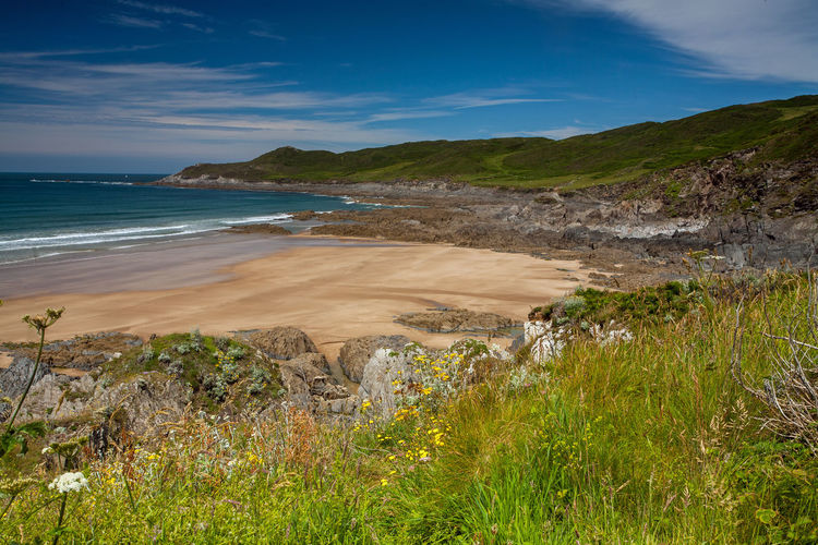 Beach Scene  Beauty In Nature Coastal Coastline Day Hikng Horizon Over Water Landscape Mortehoe Nature No People North Devon Ocean Ocean View Outdoors Paradise Scenics Sea Seascape Sky Tranquil Scene Tranquility Water Woolacombe, Devon