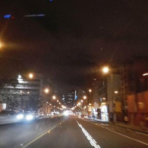 Calles vacías, vidas vacías (?) Colombia Bogotá Photography Night Citylights Blured Architecture Centrodebogota