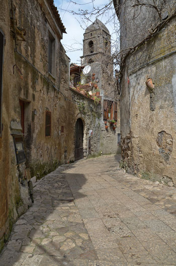 The Medieval Village of Casertavecchia. Alley Arch Architecture Brick Wall Building Building Exterior Built Structure Cobblestone Day Diminishing Perspective Eye4photography  History Medieval Narrow Old Old Town Outdoors Residential Structure Stone Wall Street The Way Forward Travel Photography Traveling Village Wall - Building Feature