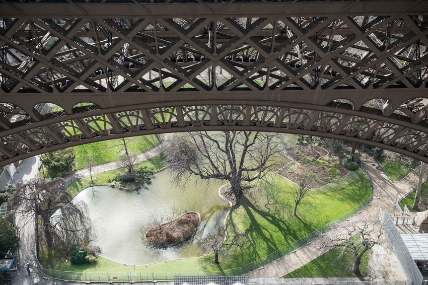 Eiffel Tower Paris, France  Beauty In Nature Built Structure Public Garden Travel Destinations View From Eiffel Tower