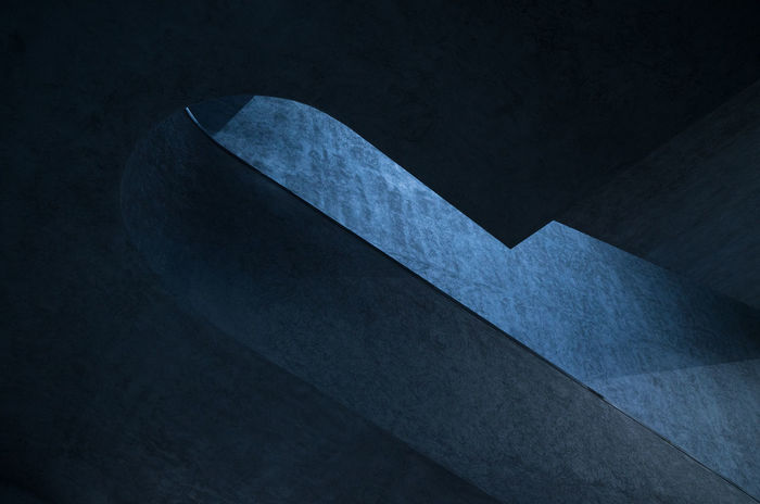 BASEL, JANUAR 2018 Staircase Herrschiller Constantinschiller Basel Basel, Switzerland Switzerland Architecture Architecture_collection Architectural Detail Triangle Shape No People Blue Industry Black Background Duct Tape Close-up