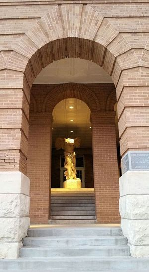Arch Architecture Built Structure Day Denton, Texas No People Outdoors Steps Texas Woman's University TWU Winged Victory