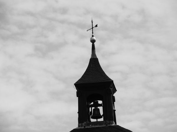 Alsace Alsace France Alsacefrance Architectural Column Architecture Bell Tower Black And White Blackandwhite Building Exterior Built Structure Church Cloud - Sky Cloudscape Cloudy Day High Section History No People Outdoors Place Of Worship Religion Sky Spire  Spirituality Steeple