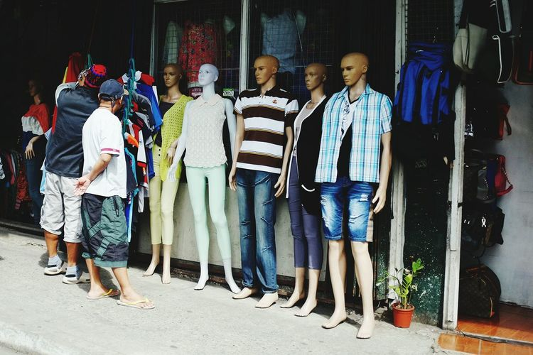 Men By Mannequins