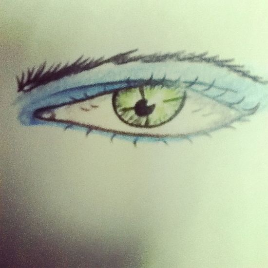 Eye Blue Green Black Follow Drawing Color Picture Pencil Girl Face Fashion Follow Art Instaart Good Like Like4like Love Instagood Instalike Instafollow Photography Photo Prismacolor