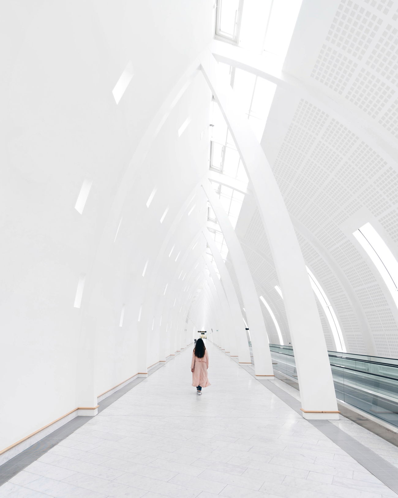 architecture, one person, real people, built structure, indoors