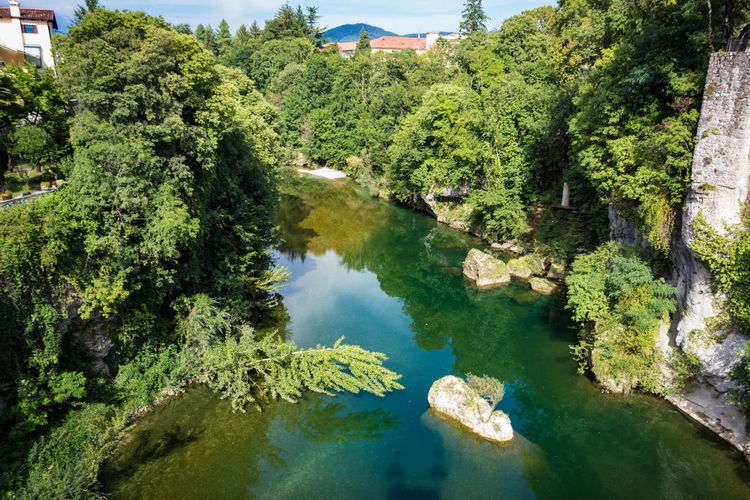 Friuli Venezia Giulia Nature Udine Beauty In Nature Day Green Color Growth High Angle View Idyllic Italy Lake Land Natisone Nature No People Outdoors Plant Reflection River Scenics - Nature Tranquil Scene Tranquility Tree Water