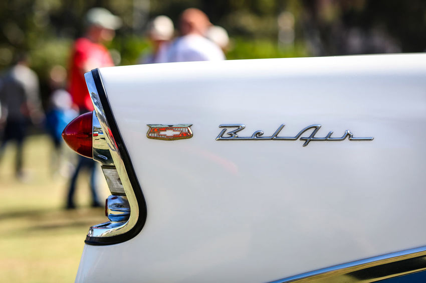 BelAir Belair Car Close-up Collector's Car Day Focus On Foreground Metal Motor Vehicle No People Outdoors Selective Focus Tail Light Text Transportation Vintage Cars