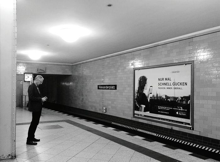Day 347 - Suit up! Berlin Blackandwhite Public Transportation Ubahn Alexanderplatz Streetphotography Streetphoto_bw 365project 365florianmski Day347