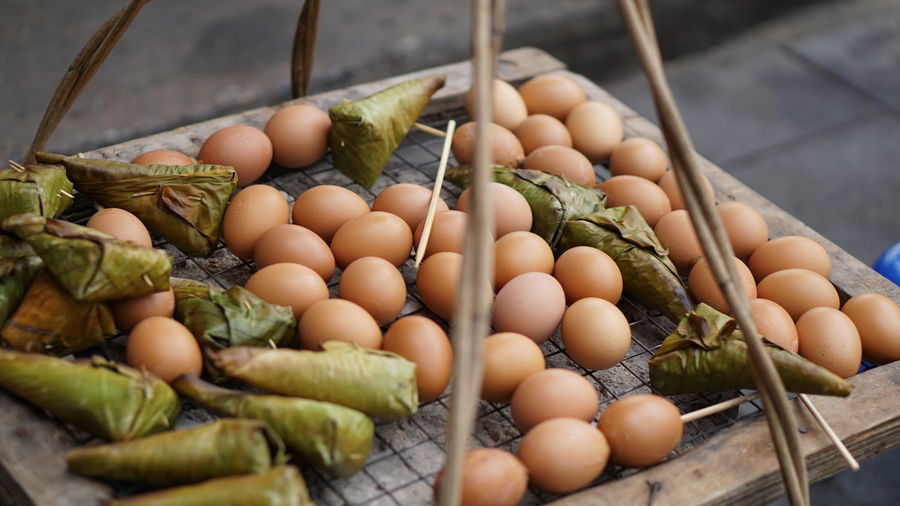 Toasted Abundance Close-up Eggs Food Healthy Eating Large Group Of Objects No People Sticky Rice Street Food Street Food Thailand