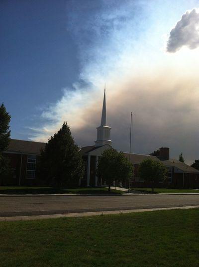 Storm Fire Unsettled church Church