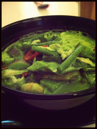 Lunch Jemari Restaurant Kari Ijau Thai Food