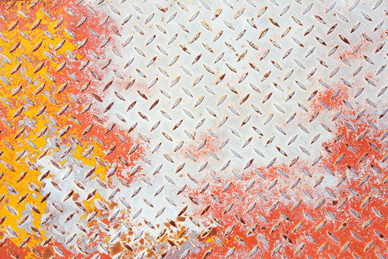 Weathered Abundance Backgrounds Close-up Creativity Day Design Diamond Plate Floor Full Frame High Angle View Indoors  Metal Multi Colored No People Old Orange Color Pattern Repetition Rusty Shape Still Life Textured  Used