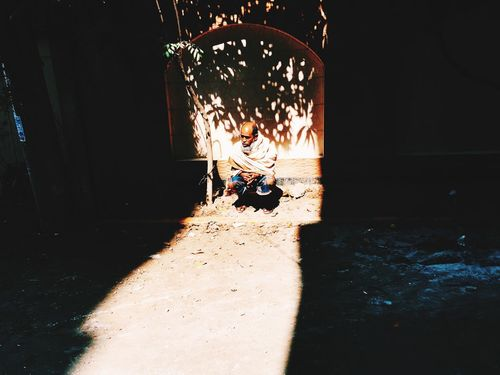 Light And Shadow Sunbathing Sunny Winter Old Alley Creative Light And Shadow Bangladesh