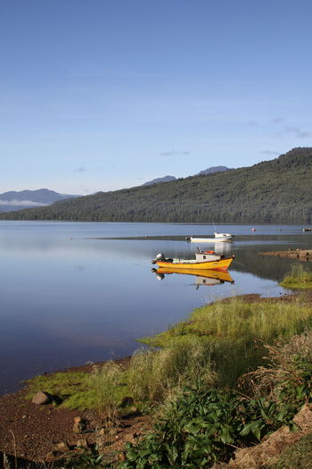 Aysen Boat Distant Fjord Nautical Vessel Puyuhuapi Riverbank Tranquil Scene Waterfront
