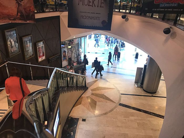 Real People Lifestyles Architecture City Life Men Walking Built Structure City High Angle View Indoors  Women Large Group Of People Day Group Of People People Adult Adults Only Shopping Mall Stairs Mall Barrio De Caballito Argentina