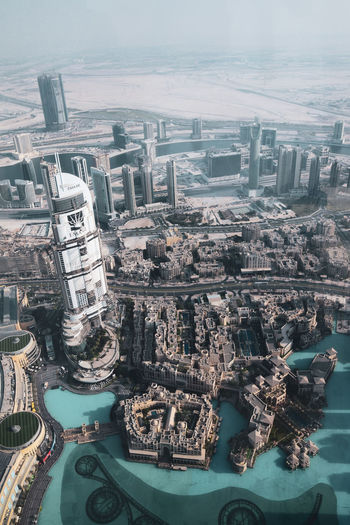 burj khalifa Building Exterior Built Structure Architecture Water City Aerial View Cityscape High Angle View Nature Travel Destinations Building No People Day Residential District Office Building Exterior Travel Tourism Outdoors Skyscraper Financial District