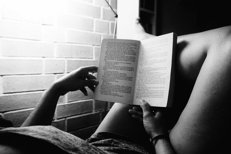Alone Time Reading Relaxing Shadows & Lights Blackandwhite Book Book Time Close-up Day Holding Human Body Part Human Hand Indoors  Lamplight Leisure Activity Lifestyles One Person People Real People Screen Silence Solitude Before Bed