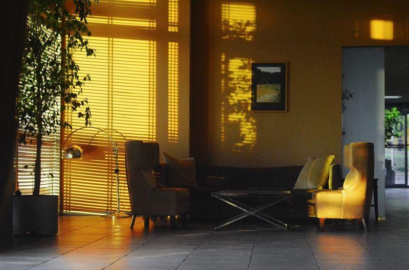 Hotel Sunshine Couch Sitting Area Windows Morning Sunshine Warm Colors Summer Interior Views
