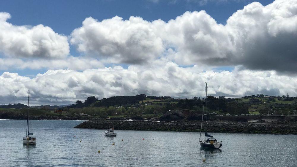Asturias Nautical Vessel Cloud - Sky Water Sky Transportation Mode Of Transportation Sailboat Sea Day Waterfront Sailing Anchored