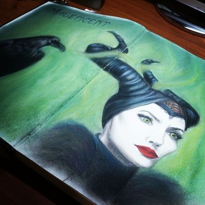Закончена МАЛЕФИСЕНТА Maleficent Art Sketchbook