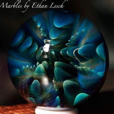Marble Boromarble BORo Headyart headymarbles glassmarble glass glassblowing mib headyglass ventura 805 ethanlesch
