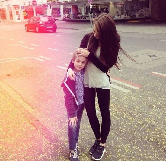 Love♡ Forever&ever Long Hair Me & My Cousin