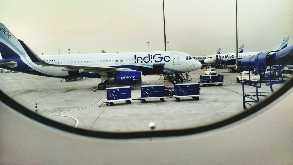 Looking through the window pane Lookout Airport Airplane Firstflight Excited Flying High Bigbird Delhi
