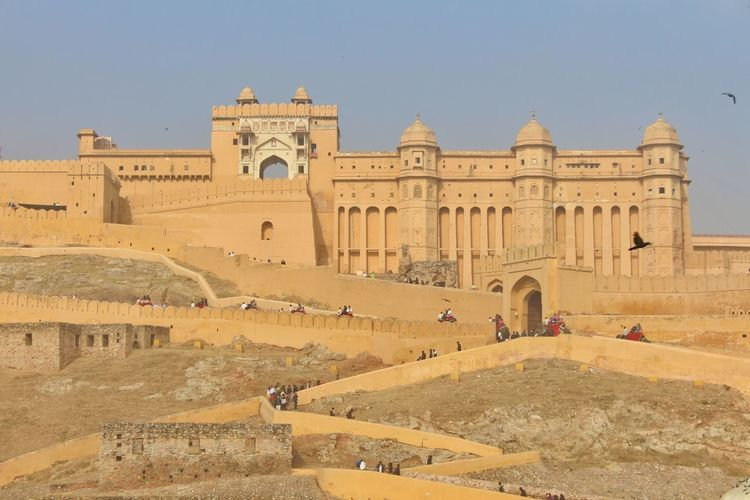 Amer Fort, Jaipur Amber Fort Amer Fort Jaipur Rajasthan India Ancient Civilization City King - Royal Person Sculpture Architectural Column Ancient Desert History Statue Astrology Sign Monument