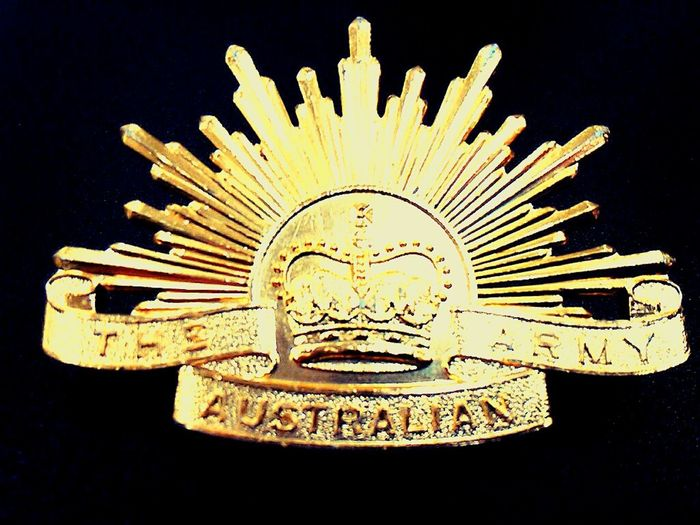 Aussies Aussienation Golden Insignia Logos Logo MilitaryBadges THE AUSTRALIAN ARMY The ANZACS I Come From A Land Down Under Military Badges Australia Military Badges Army Badge Australia❤️ Australian Army Adf Australian Special Forces Australia 🇦🇺 Diggers Australian Militaria The Rising Sun Aussie Gold Colored Goldcolored Goldcoloured Aussiepride