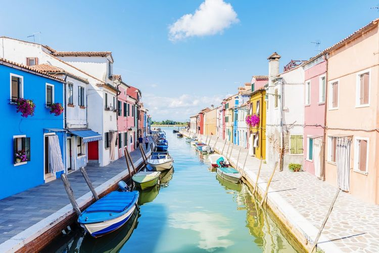 EyeEm Selects Travel Destinations Water Gondola - Traditional Boat Day Nautical Vessel Tradition Outdoors Sky Building Exterior Sea Architecture Moored No People Venice Canals Venice Venice, Italy City Burano Burano, Italy Burano, Venice Burano Island Second Acts