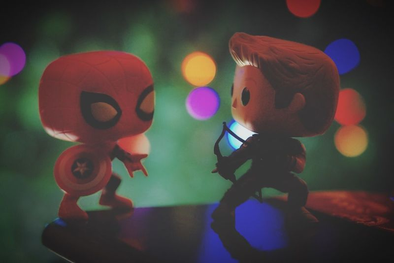 Popfunko Hawkeye Spider-man Civilwar