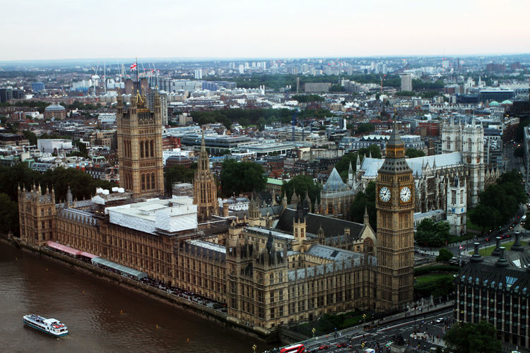 High angle view of the house of parliament