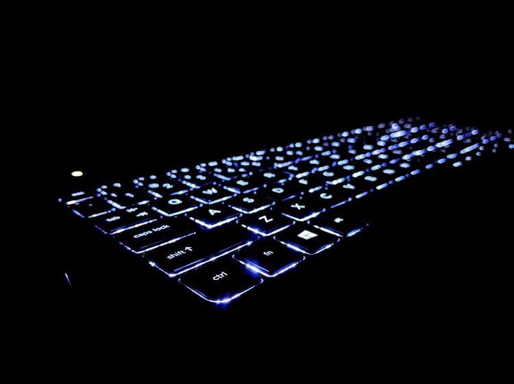 Keys! Communication Close-up Illuminated Creativity Black Background Dark Symbol No People Keyboards Keyboard Light
