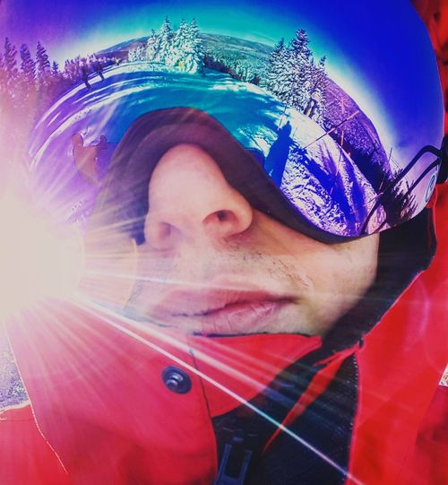 through the looking glass Snow Snowboarding Snowshoe Ski Dragongoggles Dragon Fisheye Cold Temperature Winter Snowing Portrait Headshot Red Underwater Human Face Close-up Iris - Eye Pretty Eyesight Vision