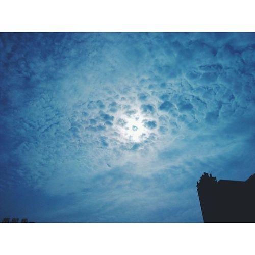 长沙理工大学 长沙 湖南 有点恐怖 蓝天白云 cloud sky changsha hunan vsco vscocam