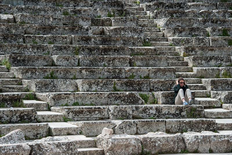 Man on steps