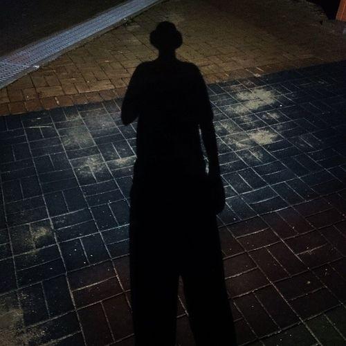 벙거지 착용 ㅋㅋ 야밤 일상 그림자 벙거지 버킷햇