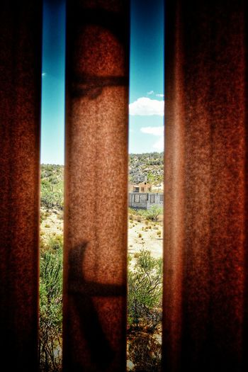 Capturing Freedom looking into America from Us Mexico Border