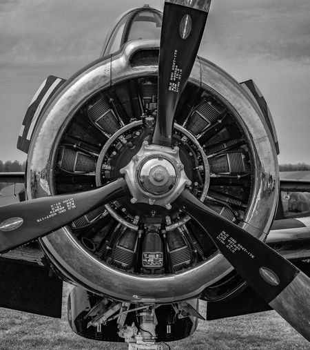 Airplane Close-up Day Engine History No People North American Old-fashioned Outdoors Propeller Propeller Airplane Sky Transportation