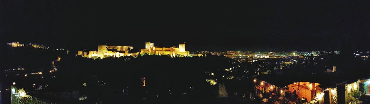 TOWNSCAPE Town Panoramic Panorama Alhambra Palace Granada Andalusia Spanish Spain🇪🇸 Granada Travel Photography Outdoor Travel Touristy Sight World Heritage Photography Traveling Tourist Night