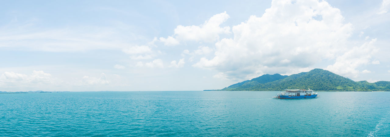 Sky Water Sea Cloud - Sky Transportation Nautical Vessel Scenics - Nature Beauty In Nature Mode Of Transportation Day Tranquility Tranquil Scene Nature No People Waterfront Travel Sailing Blue Idyllic Outdoors Horizon Over Water Passenger Craft Turquoise Colored Ko Chang