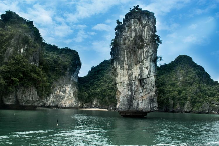 Vietnam Beauty In Nature Bucket List Cliff Cloud - Sky Day Famous Place Ha Long Bay Landscape Limestone Mountain Nature No People Outdoors Scenery Scenics Sky Tourism Tranquil Scene Tranquility Tree Water Waterfront