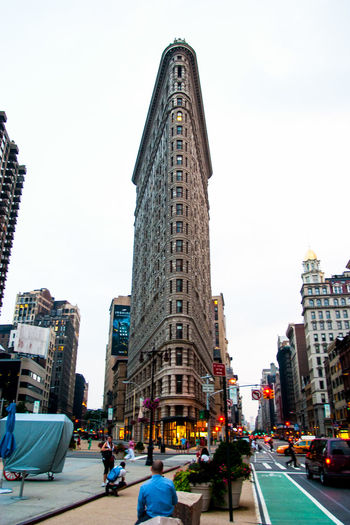 Architecture Building Exterior Built Structure City City City Life Façade Flatiron Building New York Tower