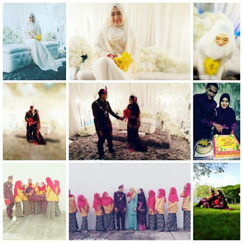 Real Life Real People Indoors  And Outdoors❤ Beautiful View Beautiful Prince And Princess Marriage Ceremony Akadnikah