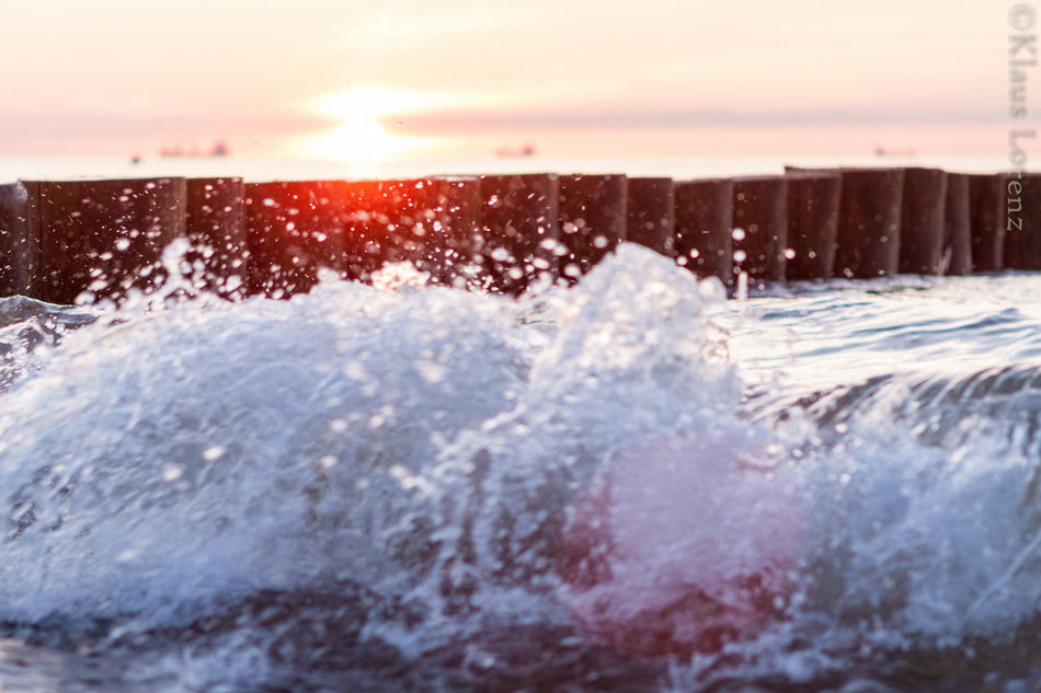 Beauty In Nature Nature Ostsee Ostseeküste Outdoors Sea Splashing Sunset Warnemünde Water Waterfront Waves