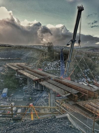 Bypass Size Scale  Scaffolding Construction Worker Busy Construction Industry Construction Background Bridge Bridge Building Crain Crainspotting. Construction Site Construction ByPass Newtown Newtown Powys Steel Tiny BIG Gap Road Road To Nowhere A To B This Way Looking Looking Down From Above  For Friends That Connect  Day Sky AI Now EyeEmNewHere The Street Photographer - 2018 EyeEm Awards The Traveler - 2018 EyeEm Awards The Architect - 2018 EyeEm Awards The Great Outdoors - 2018 EyeEm Awards
